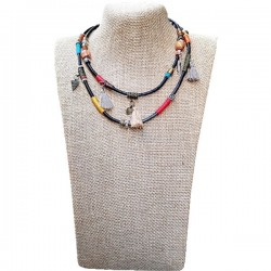 Collar Piel multicolor