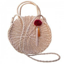 Bolso Palma de coco redondo