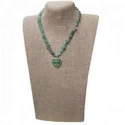 Collar de Olivinas, Pirita y plata Tibetana