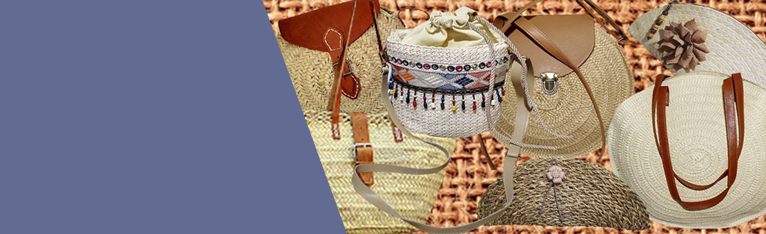 Bolsos hechos a mano de manera artesanal.